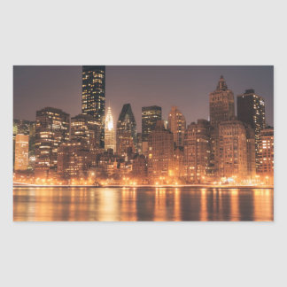 Roosevelt Island View of the New York City Skyline Rectangular Sticker