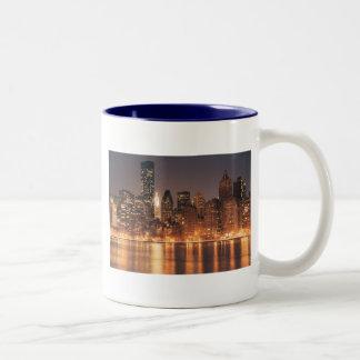 Roosevelt Island View of the New York City Skyline Two-Tone Coffee Mug