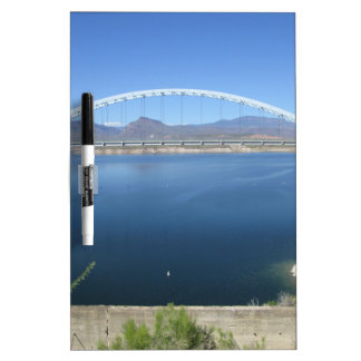 Roosevelt Lake Arch Bridge Dry Erase Board