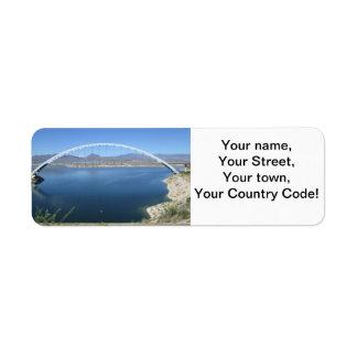 Roosevelt Lake Arch Bridge Label