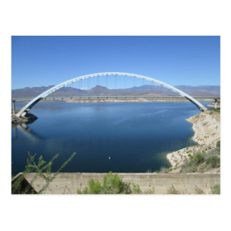 Roosevelt Lake Arch Bridge Postcard