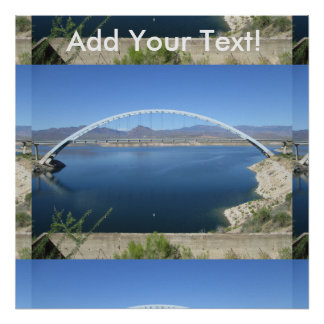Roosevelt Lake Arch Bridge Poster