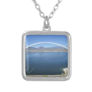 Roosevelt Lake Arch Bridge Square Pendant Necklace