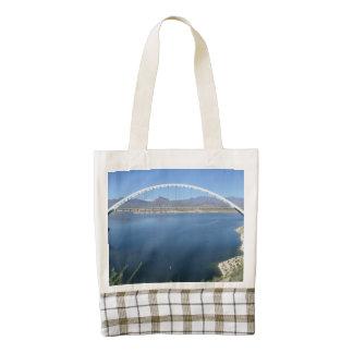 Roosevelt Lake Arch Bridge Zazzle HEART Tote Bag