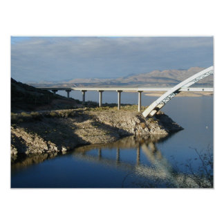 Roosevelt Lake Bridge, Arizona Poster
