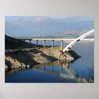 Roosevelt Lake Bridge, Arizona Print