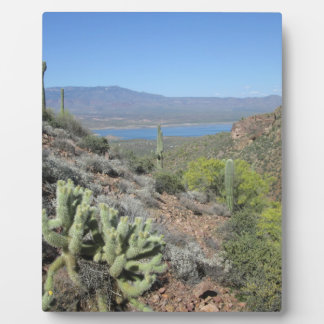 Roosevelt Lake From Tonto National Monument Plaque