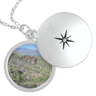Roosevelt Lake View Tonto National Monument Locket Necklace