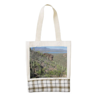 Roosevelt Lake View Tonto National Monument Zazzle HEART Tote Bag