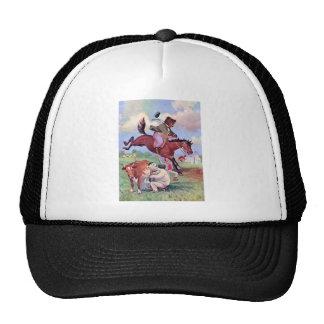 Roosevelt lleva el montar de caballos del rodeo gorra