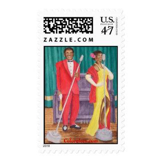 Roosevelt & Lola's Nashville Gig Postage Stamp