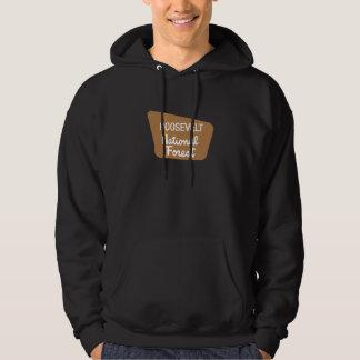 Roosevelt National Forest (Sign) Hooded Sweatshirts