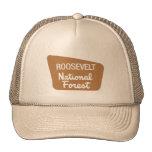 Roosevelt National Forest (Sign) Mesh Hat