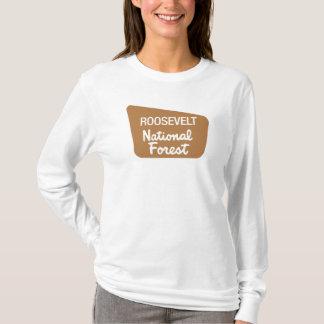 Roosevelt National Forest (Sign) T-Shirt
