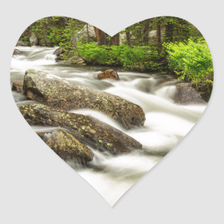 Roosevelt National Forest Stream Heart Sticker