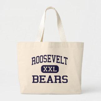 Roosevelt - osos - alto - Wyandotte Michigan Bolsa Tela Grande