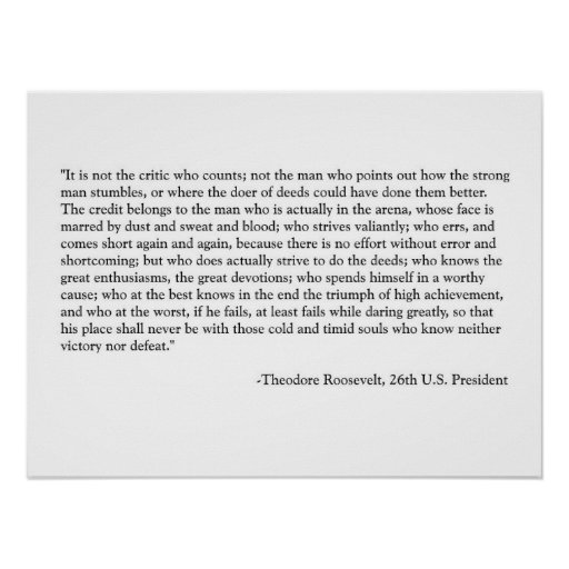 Roosevelt Quote Poster