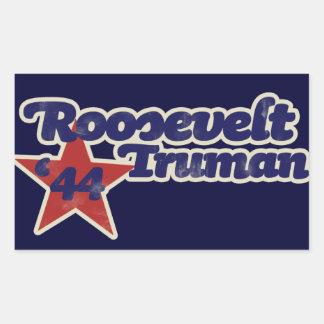 Roosevelt Truman 1944 Rectangular Sticker