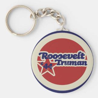 Roosevelt Truman 44 Basic Round Button Keychain