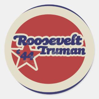 Roosevelt Truman 44 Classic Round Sticker