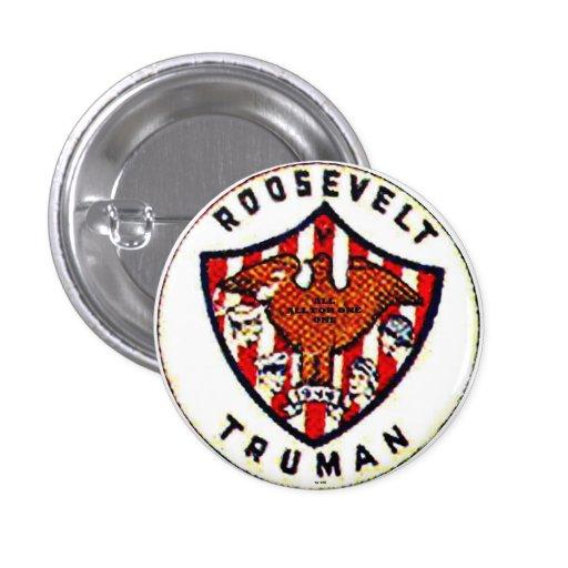 Roosevelt-Truman - botón Pin