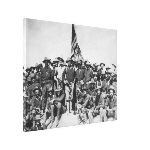 Roosevelt y Rough Riders Lienzo Envuelto Para Galerías