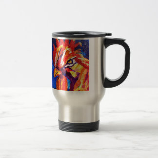 Rooster 15 Oz Stainless Steel Travel Mug