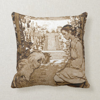 Rooster 1905 throw pillow