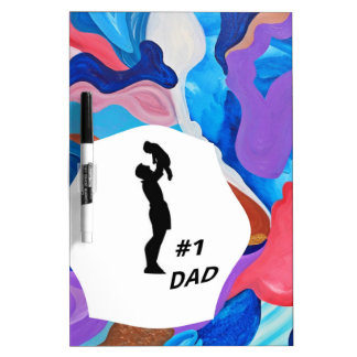 Rooster #1 Dad Dry-Erase Board