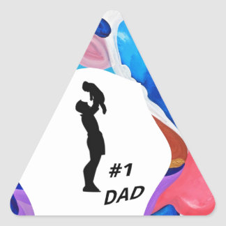 Rooster #1 Dad Triangle Sticker