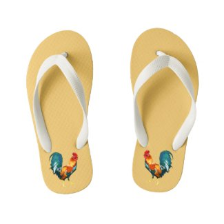 Rooster 2017 Chinese New Year Flip Flops