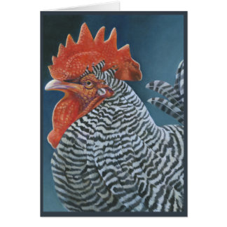 """""""Rooster 2"""" Greeting Card"""