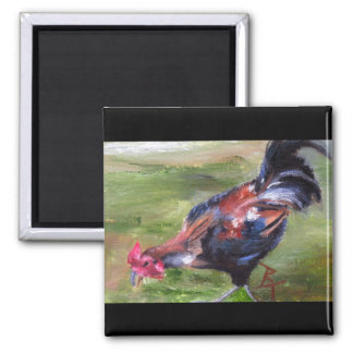 Rooster aceo Magnet