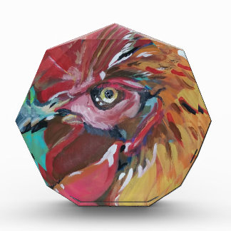 Rooster Acrylic Award