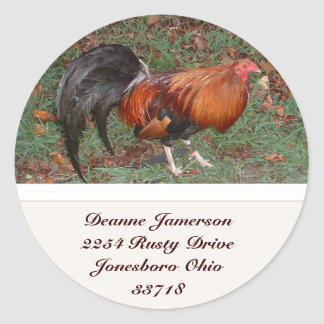 Rooster Address Stickers