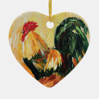 Rooster Alexis. Personal designs of roosters Ceramic Ornament