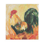 Rooster Alexis. Personal designs of roosters Memo Notepads
