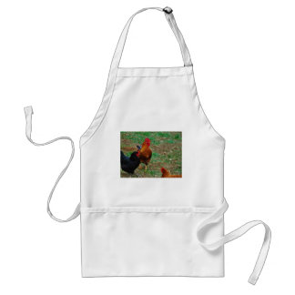 Rooster and Black Hen Adult Apron