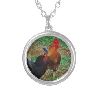 Rooster and Black Hen Necklaces