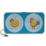 Rooster and Chicken doodle speaker