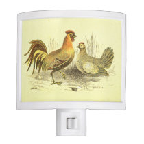 Rooster and Chicken Kitchen Light