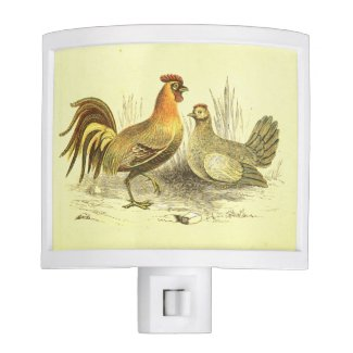 Rooster and Chicken Kitchen Light Nite Lights