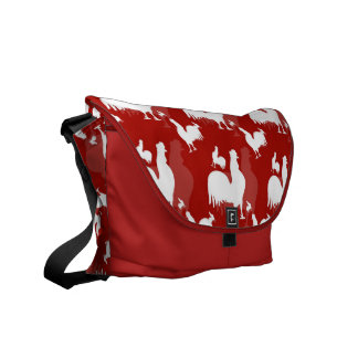 Rooster and Chickens Courier Bag