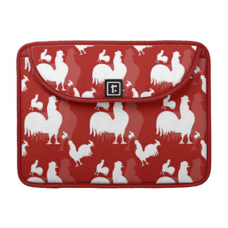 Rooster and Chickens MacBook Pro Sleeve