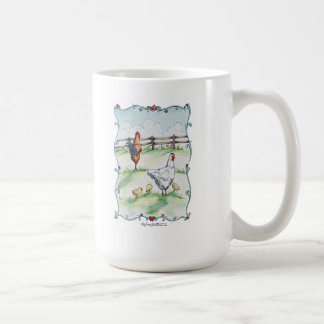 Rooster and Chickens Mug