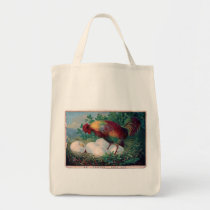 Rooster and Eggs Tote