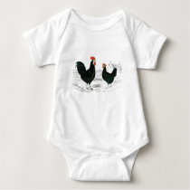 Rooster and Hen Baby Bodysuit