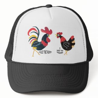 ROOSTER AND HEN Cap Hat