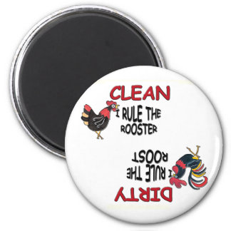 Rooster and Hen Dishwasher Magnet