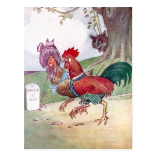 Rooster and Hen on Way to Hendale Post Cards